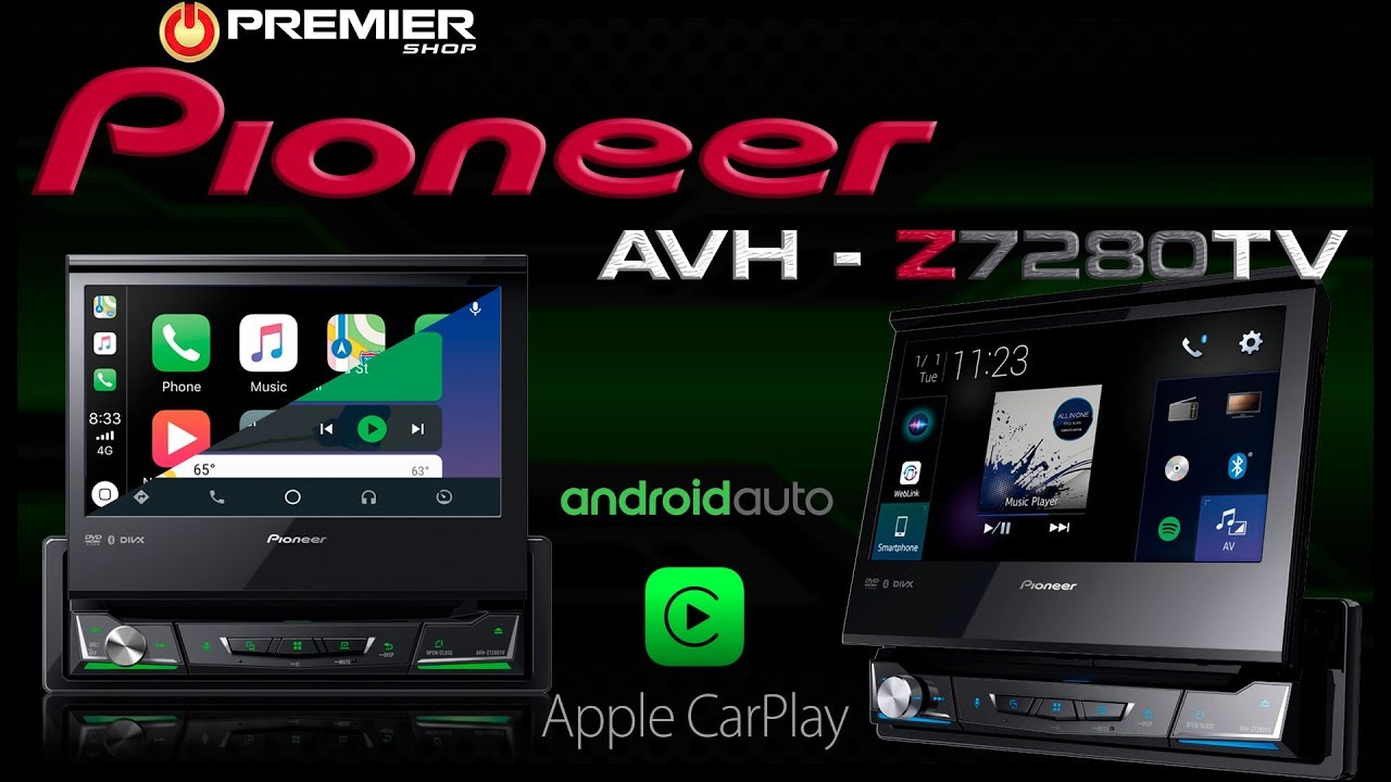 MULTIMÍDIA RECEIVER PIONEER AVH-Z7280TV - Android Auto, Apple Carplay e WEB  Link - [ Premier Shop ]