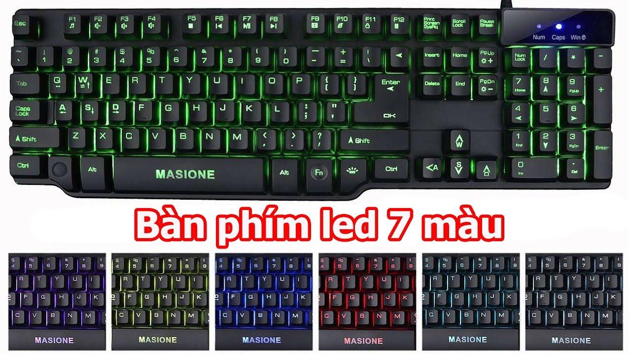 Bàn phím led 7 màu giả cơ Masione K801