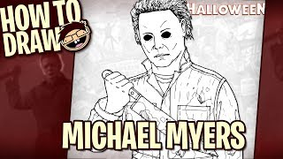 How to Draw MICHAEL MYERS (Halloween Movie Franchise) | Narrated Easy Step-by-Step Tutorial