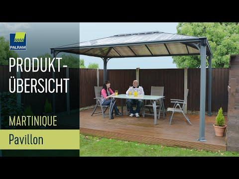 martinique-palram-gartenpavillon:-wasserfest-und-rostfrei