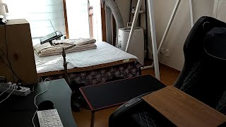 LG 이동식 에어컨 소음 후기 (침대에 누워서 노트북 …