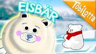 Lars der kleine Eisbär basteln- Papier Kinder DIY  Eisbär aus Papier   Papier basteln TobiLotta 136