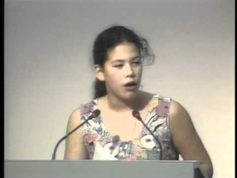Severn Cullis-Suzuki speaking at Rio in 1992