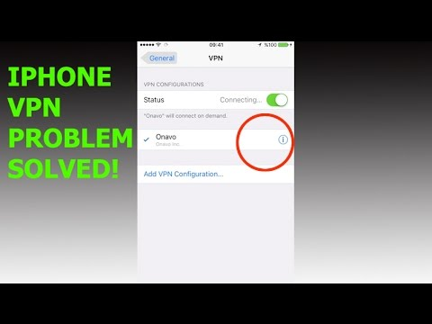 iPhone auto connecting VPN problem solved