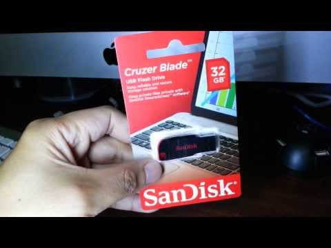 Sandisk Cruzer Blade 32gb: What's on the box?