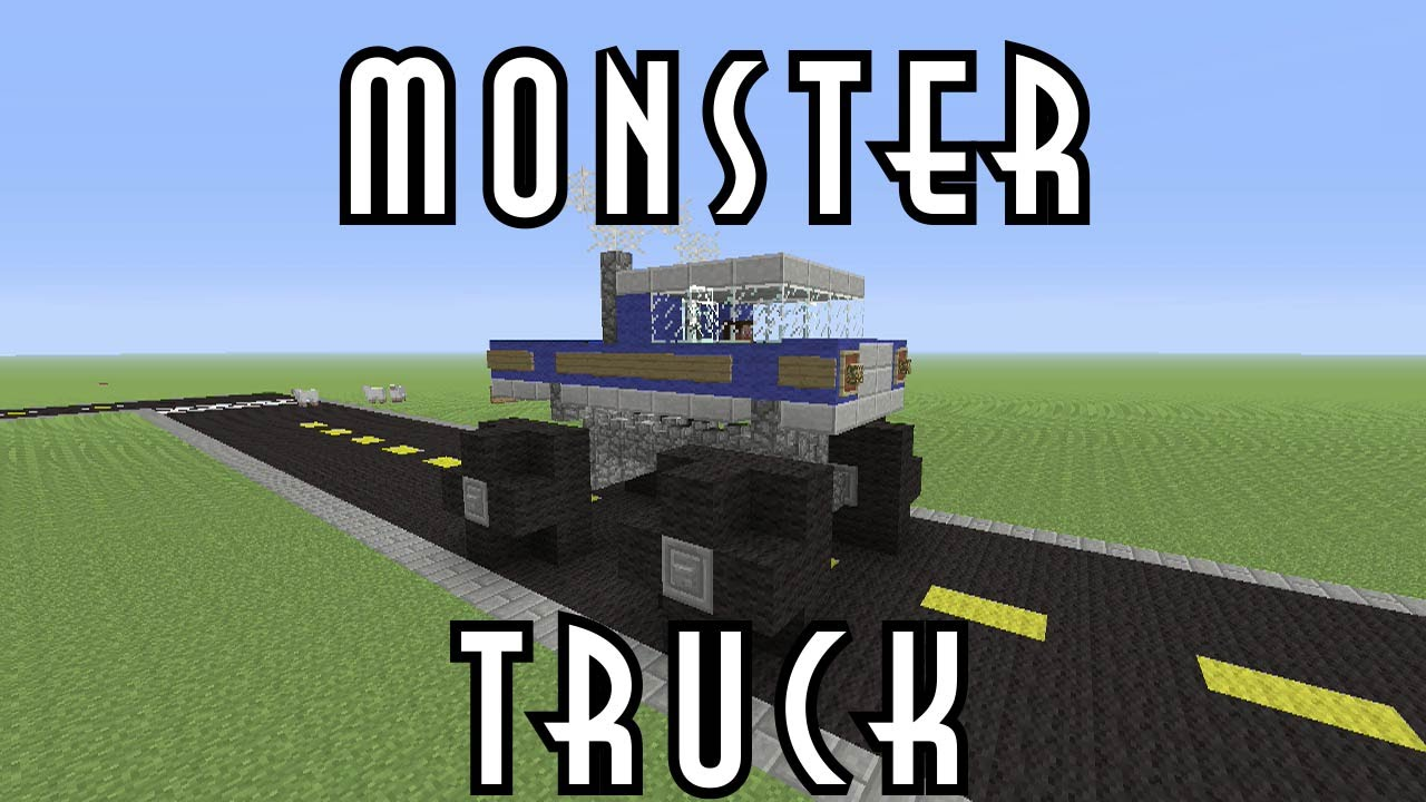 how to build a monster truck in minecraft