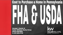 Pennsylvania: Cost to purchase a home FHA & USDA