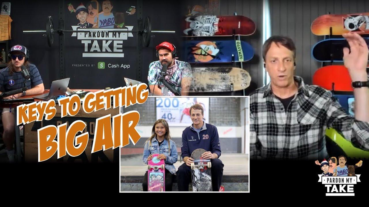 Tony Hawk Breaks down Viral Video Encouraging 12 Year Old Sky Brown to Drop down the Mega Ramp