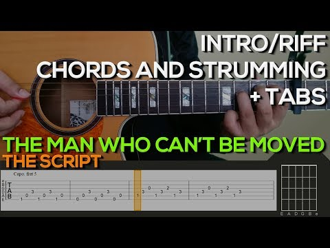 The Script  The Man Who Cant Be Moved Guitar Tutorial INTRORIFF, CHORDS AND STRUMMING + TABS