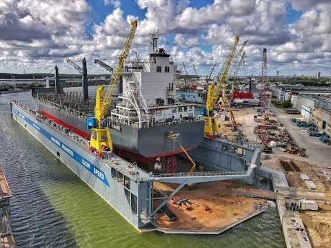 The largest floating dock in the Baltic States owned by the Western Shipyard Group of Companies