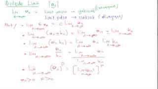 33  Kalkülüs 2 - Dizilerde Limit , Yakınsaklık    Convergence   Ve ıraksaklık