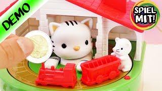 Süßes Mäuschen bringt GELD in Sicherheit | Spardose Katze und Maus | Katzenpfote bewegt sich