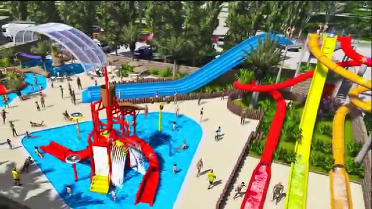 Camping la sir ne nouveau complexe aquatique youtube for Center parc piscine