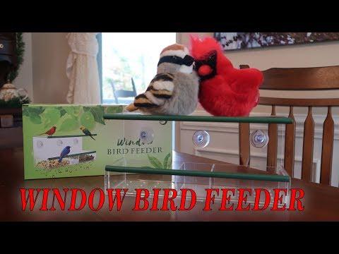 🐦KAMILEO WINDOW BIRD FEEDER (W/Suction Cups) 🍀 DUAL PERCH (Bird Watchers) REVIEW 👈