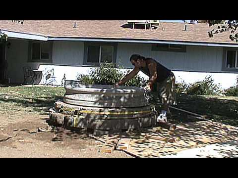 Setting the 1000 LB 3 Tier Fountain Base (Time Lapse