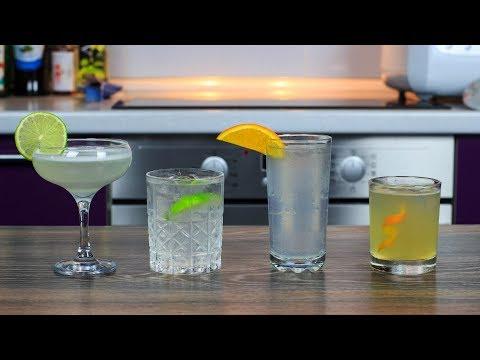 Топ 4 Простых КОКТЕЙЛЯ с Джином | Приготовит каждый | 4 Easy Gin Drinks
