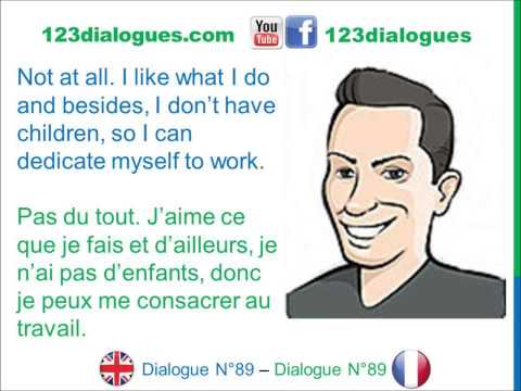 Dialogue 89 - English French Anglais Français - Job interview - Entretien d'embauche