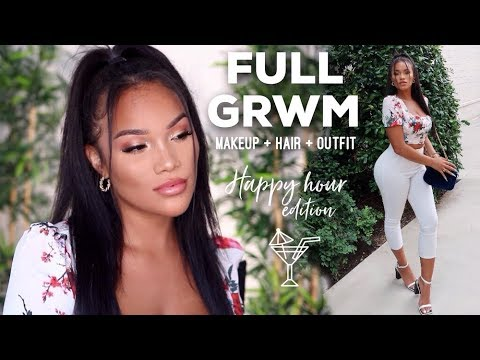 FULL GRWM HAPPY HOUR EDITION | SUMMER MAKEUP + HAIR + OUTFIT | ALLYIAHSFACE thumbnail