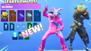 ALL NEW LEAKED DANCE EMOTES! (Headbanger, Electro Swing, Sprinkler, and Behold!) Fortnite