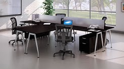 Harmony Collection Modern Office Desk Workstations from Madison Liquidators