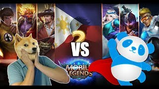 THE DOG vs THE PANDA - 9000 DIAMONDS GIVEAWAY - EXHIBITION MATCH - MOBILE LEGENDS - GAMEPLAY