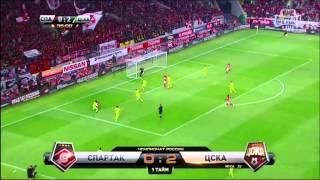 Спартак 1-2 ЦСКА Обзор матча Чемпионат России 14.08.2015 [HD]