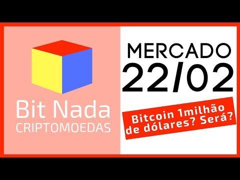 Mercado de Cripto! 22/02 BITCOIN PODE VALER 1 MILHÃO DE DÓLARES? SERÁ?