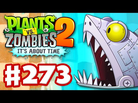 Plants vs. Zombies 2: It's About Time - Gameplay Walkthrough Part 273 - Zomboss Shark Fight! (iOS)