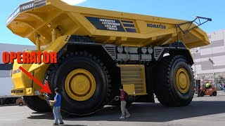 The World's first fully autonomous dump truck leaving Minexpo 2016