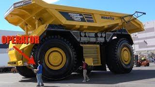 Prototype Komatsu autonomous dump truck with no cab