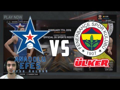 NBA 2K16 | Anadolu Efes - Fenerbahçe Ülker (Türkçe - 60 FPS)