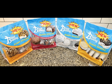 Blue Bunny Bunny Snacks Salted Caramel, Chocolate Chip, Cookies 'N Cream, Chocolate Vanilla Twist