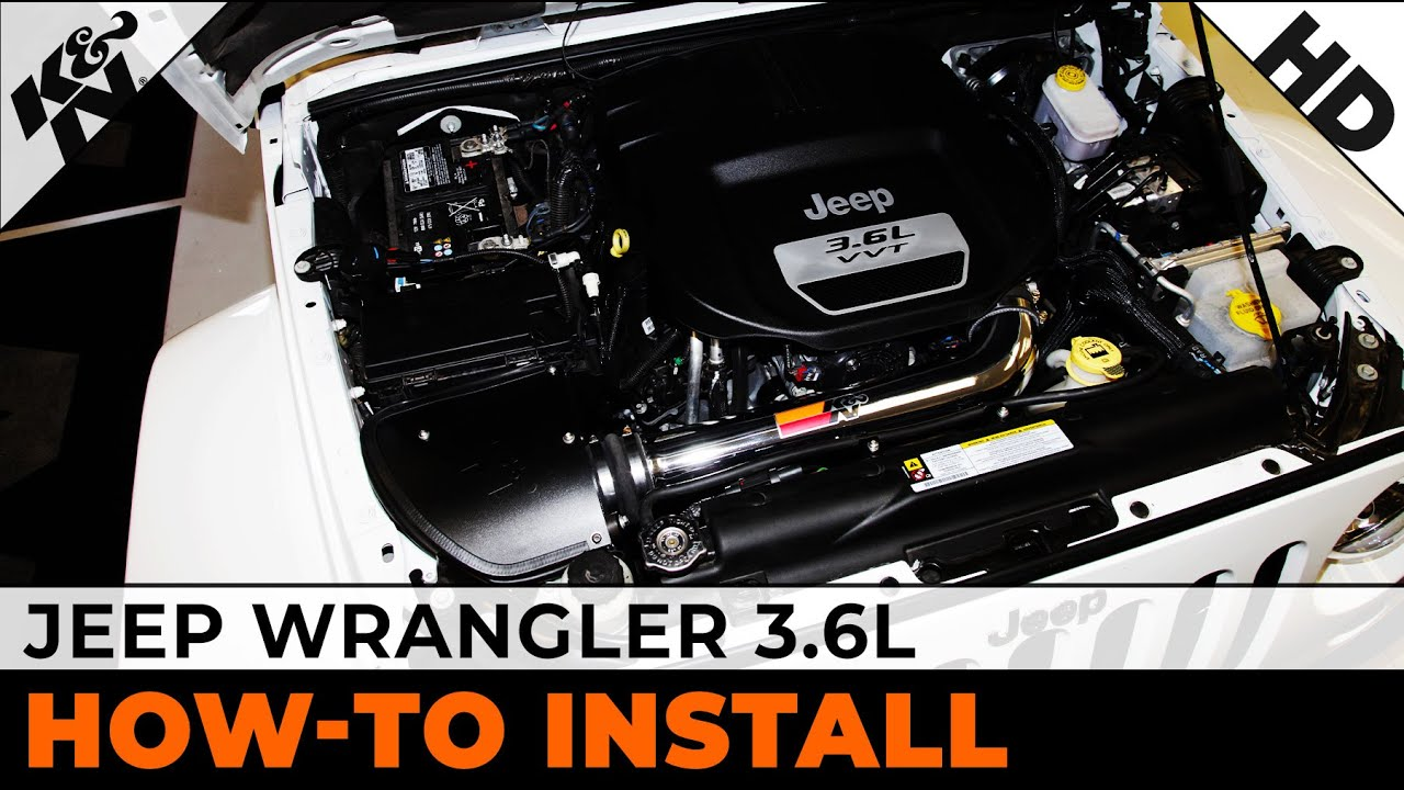 2012 2013 2014 Jeep Wrangler 36l Air Intake Installation Youtube Engine Crankcase