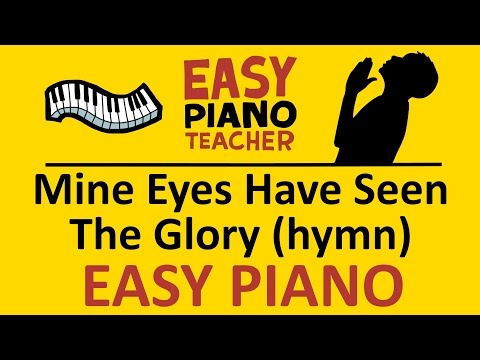 how-to-play-mine-eyes-have-seen-the-glory-(hymn)-easy-keyboard-song!-(piano-tutorial)-#ept