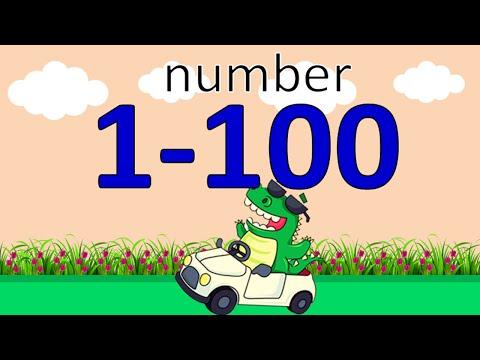 นับเลข 1-100 ภาษาอังกฤษ   Number 1-100   Learn and song