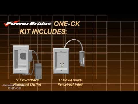 PowerBridge ONE-CK In-Wall Power Cable Management Connector Kit