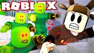 SURVIVE THE SCARY ZOMBIES IN ROBLOX! (Roblox Zombie Apocalypse)