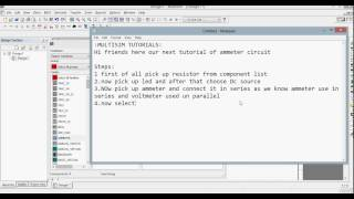 How to use Ammeter in Multisim Simulation