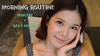 Morning Routine! Skincare + Everyday Makeup 아침 스킨케어 + 데일리 메이크업 Thumbnail