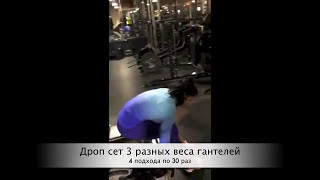 Поднятие гантелей через стороны сидя/ Side Lateral Raises