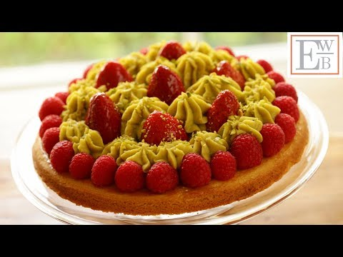 Strawberry Pistachio Tart with Sable Breton Crust