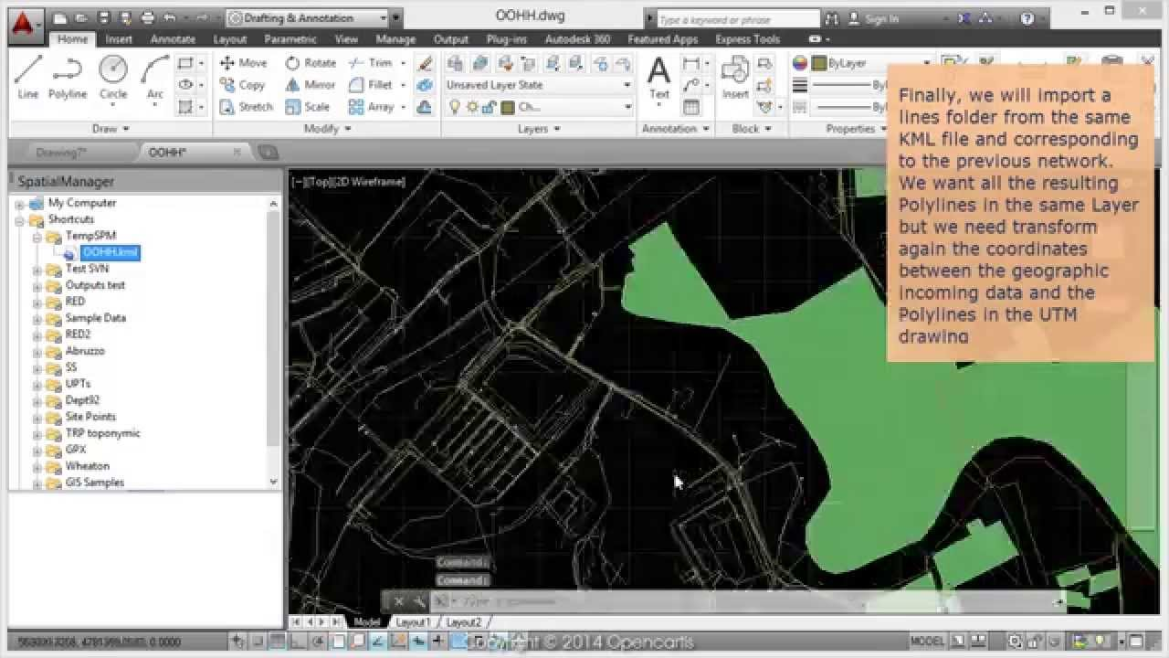 Import KML to AutoCAD -- Spatial Manager