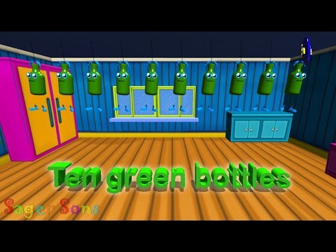 Ten Green Bottles Nursery Rhyme
