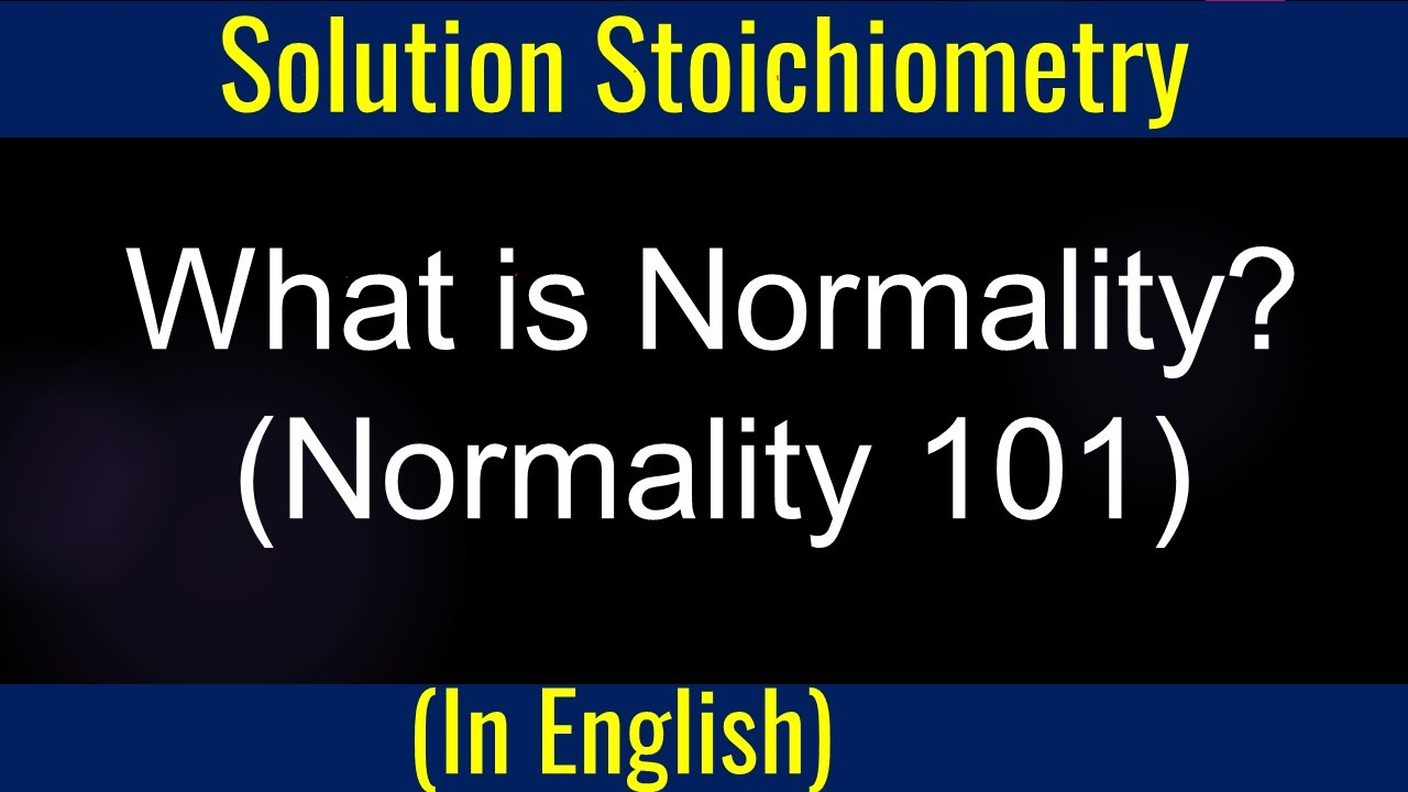 basic stoichiometry normality sample problem 1