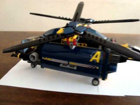 LEGO Agents Aerial Defence Unit Propeller Spinning