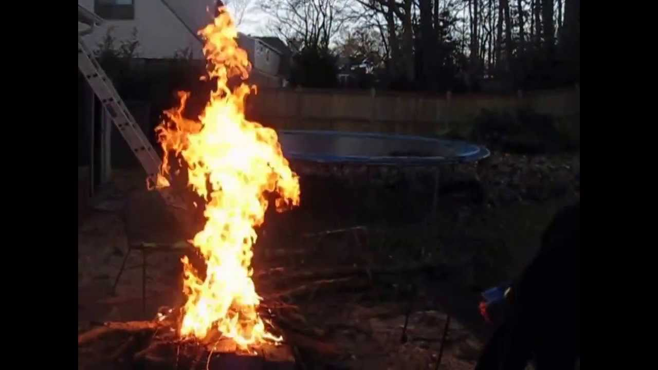 Putting out fire with gasoline youtube - Put out fire in fireplace ...