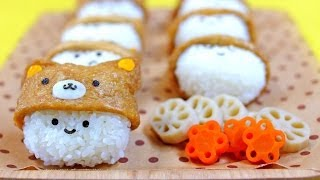 Easy root vegetable nikomi stew with inari animal hats
