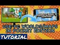 How to use Minecraft PC worlds in MCPE / Pocket Edition / Minecraft Pocket Edition | PC to PE | Maps