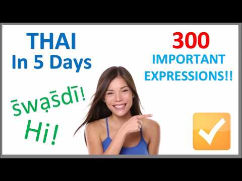 Learn Thai in 5 Days - Conversation for Beginners