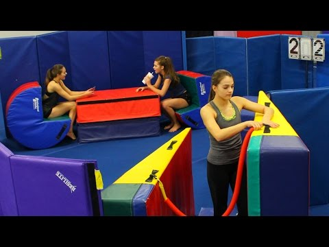 AWESOME GYMNASTICS MAT FORT!